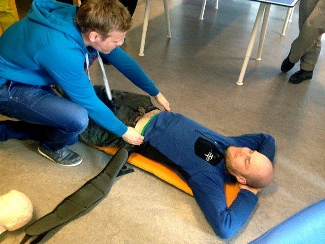 I got a lot of potentially life-saving advice from the guys running the alpine first-aid course