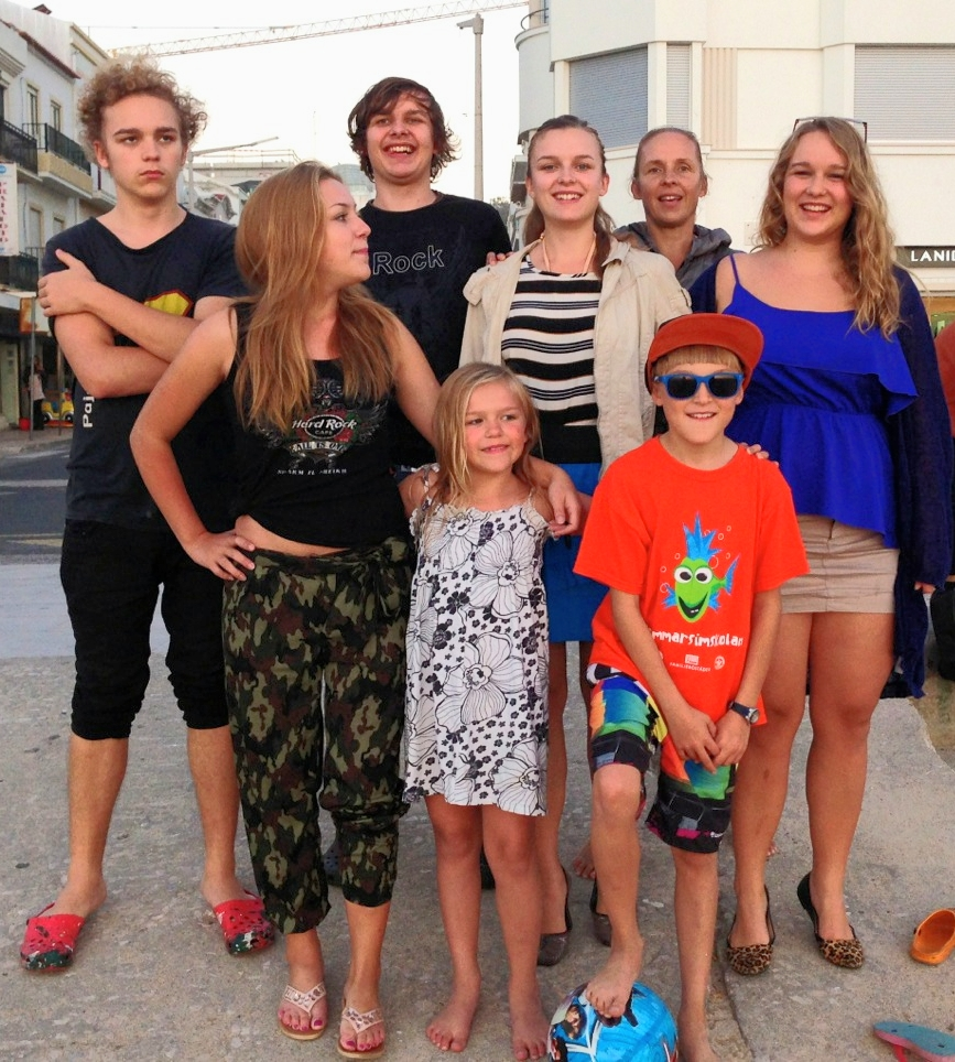 Recent family photo in Portugal, 2013