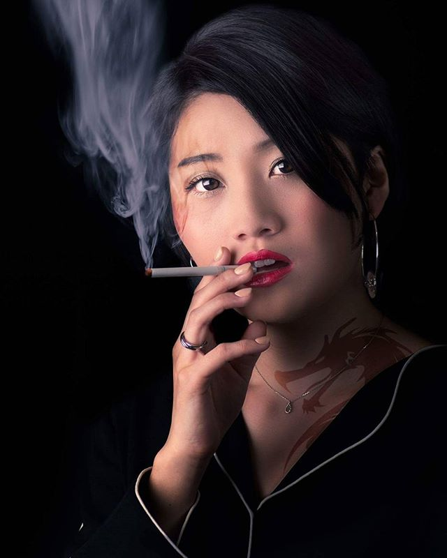 Wild Child, #girl #japan #japanese #japanesegirl #smoke #tabaco #sexy #wild #dragon  #dragontattoo #arcanum #thearcanum #arcanumapprentice #beauty