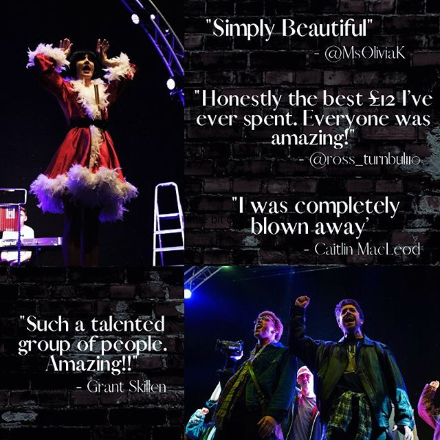 With just 3 more shows to go check out the amazing, lovely things our audiences have been saying about @footlights_rent ❤️Thank you to all our wonderful audience members so far!  Tickets are 2for1 tomorrow so make sure to get yours ASAP!  #nodaybuttoday
