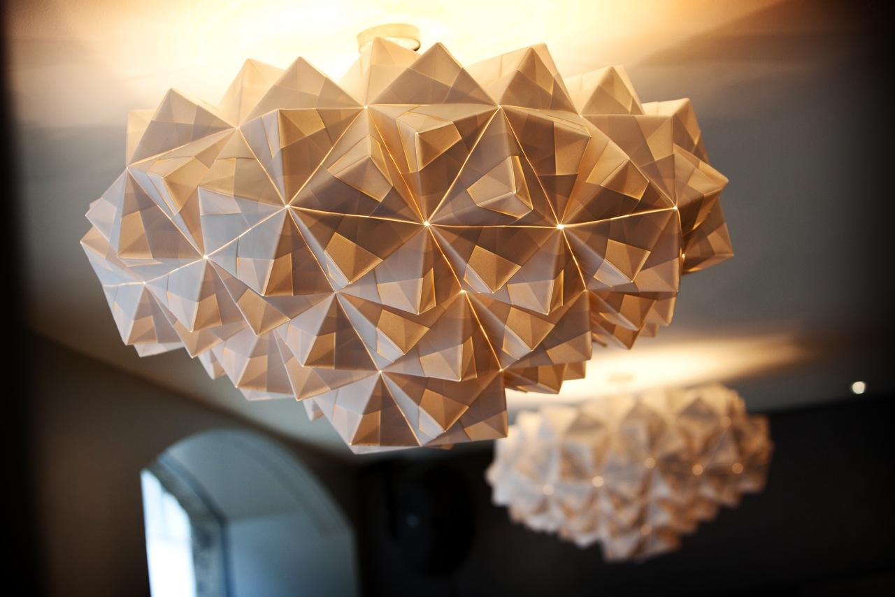 FOLDABILITY Sygn Bar bespoke origami lampshade 2