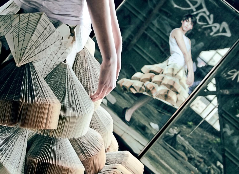 Foldability Book couture origami skirt fashion 1