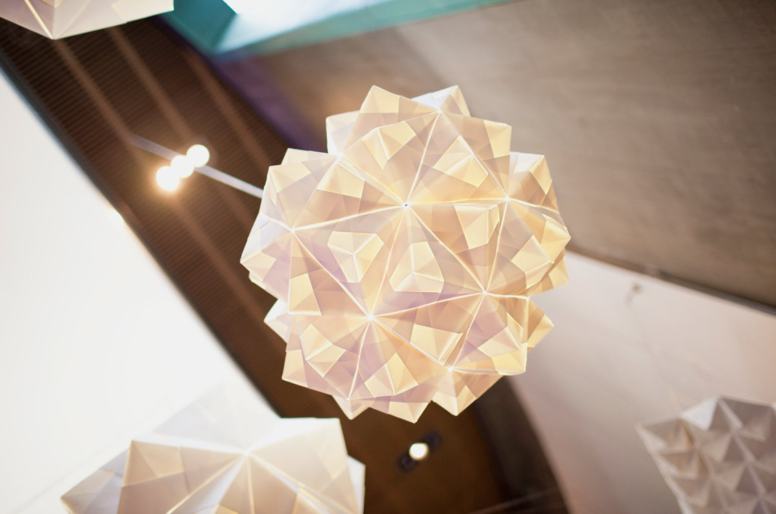FOLDABILITY Origami lampshade exhibition architecture design gallery 4