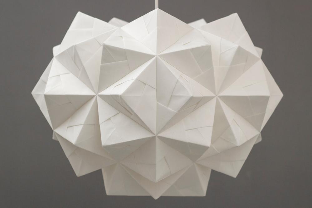 FOLDABILITY Origami lampshade Chloe pendant john lewis 4