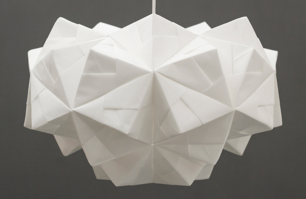 Sonobe light origami lampshade petra