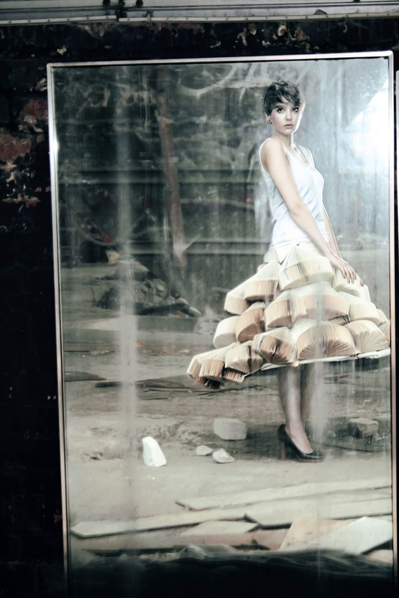 Foldability Book couture origami skirt fashion 8
