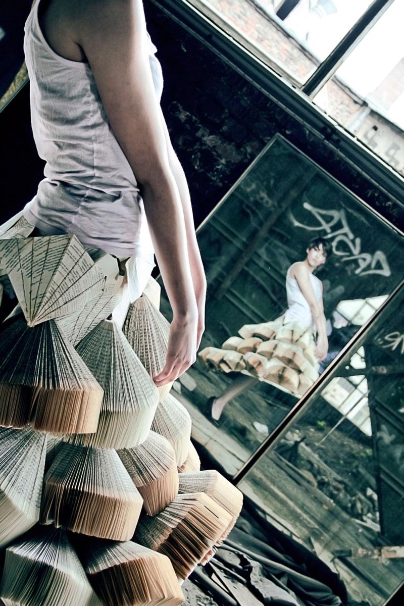 Foldability Book couture origami skirt fashion 7