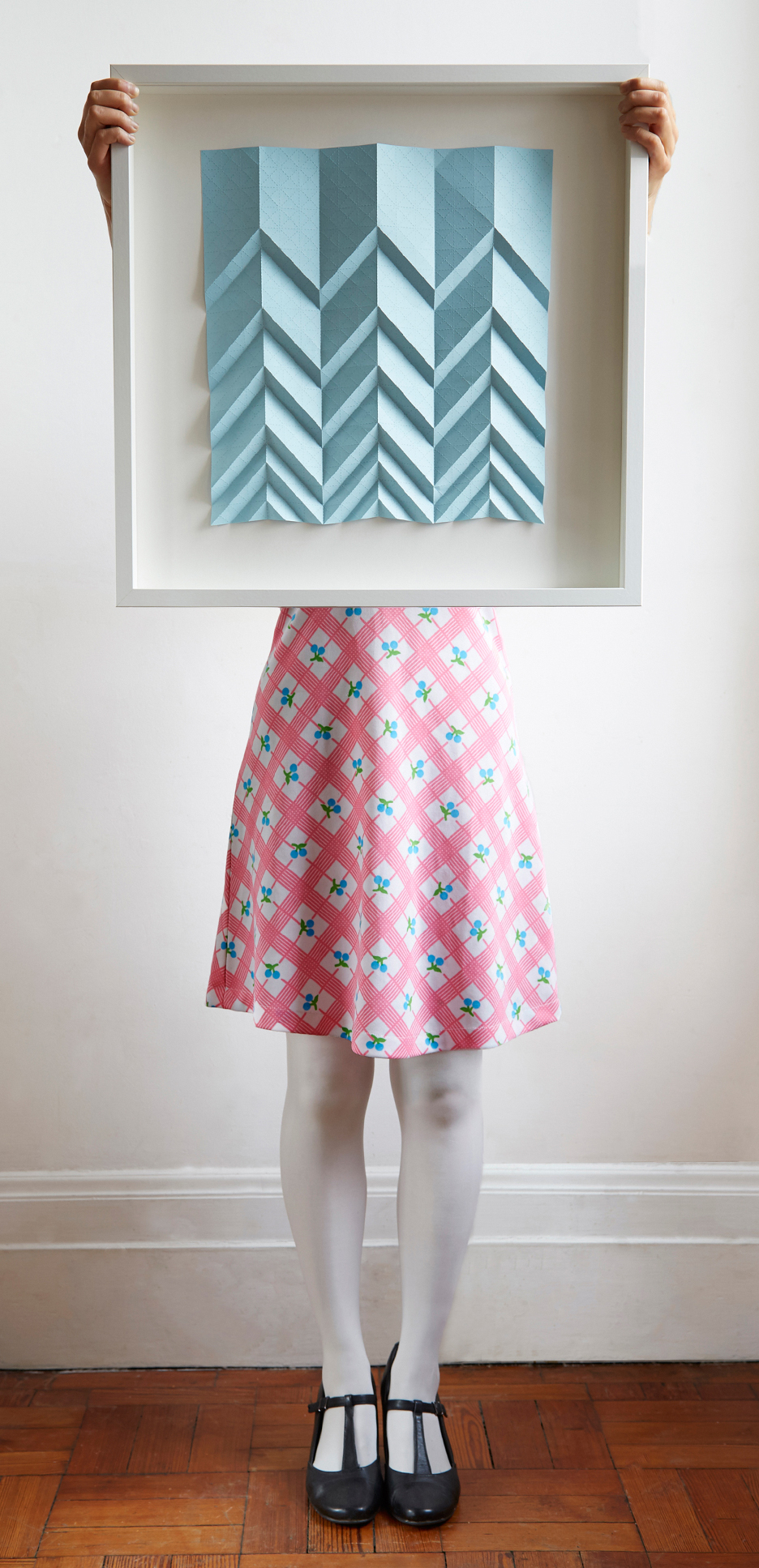 origami artwork framed