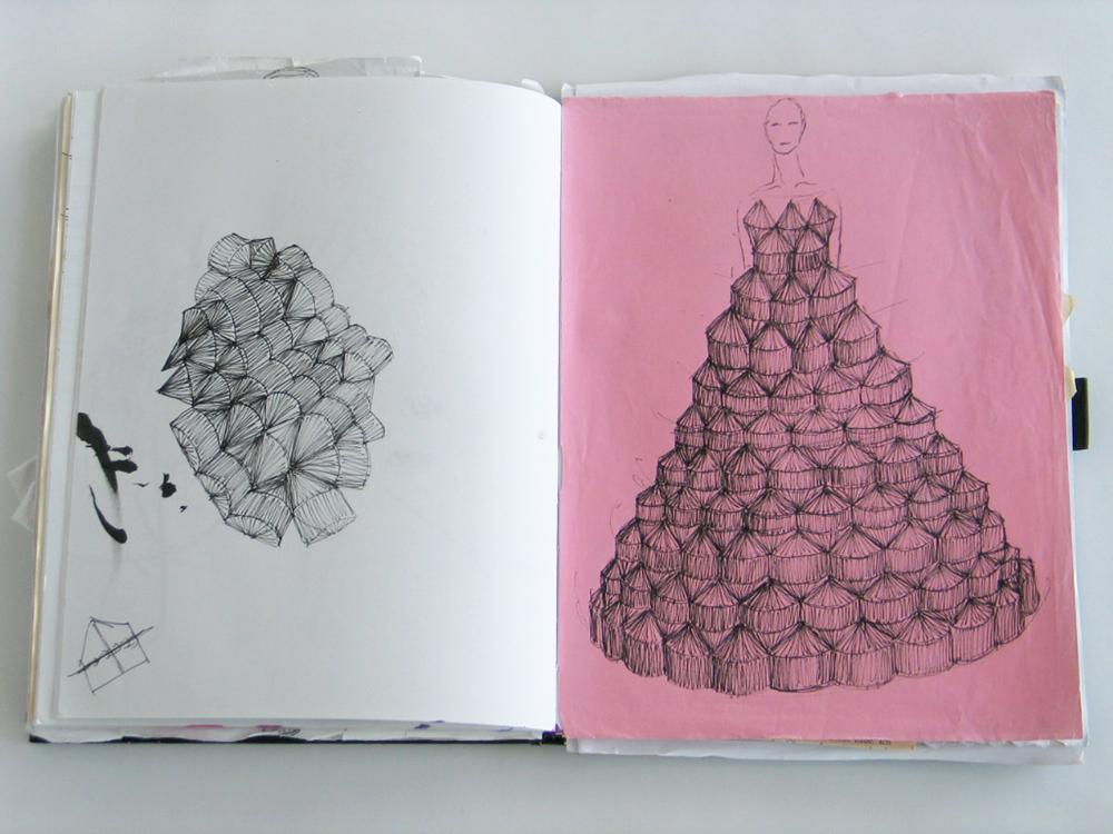Foldability Book couture origami skirt fashion 5