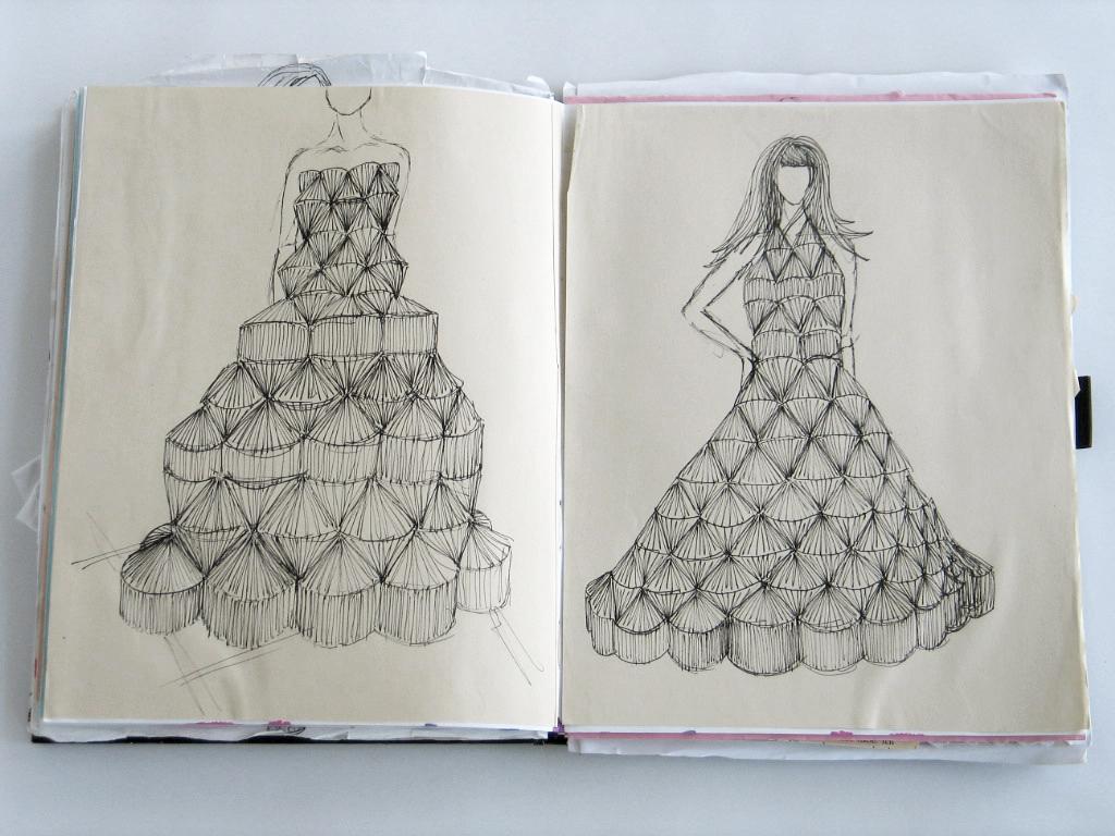 Foldability Book couture origami skirt fashion 6