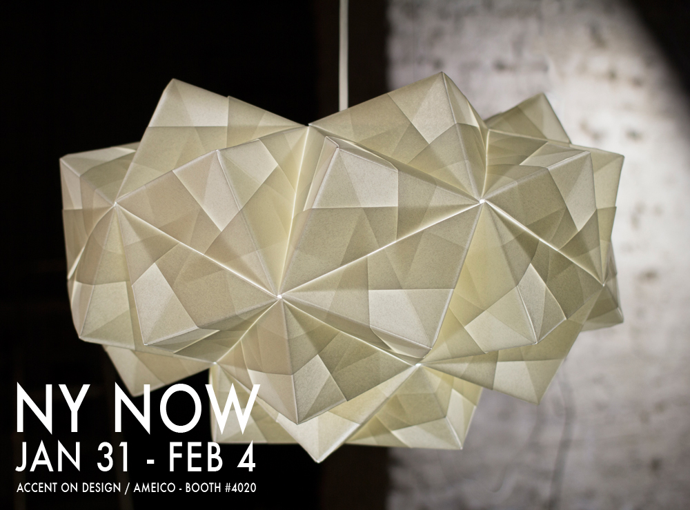 Origami lampshade launches ICFF New York USA