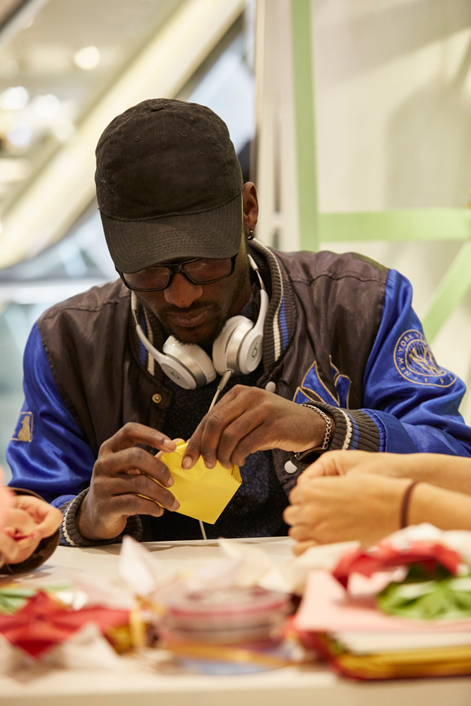 Origami workshop london H&M flagship store