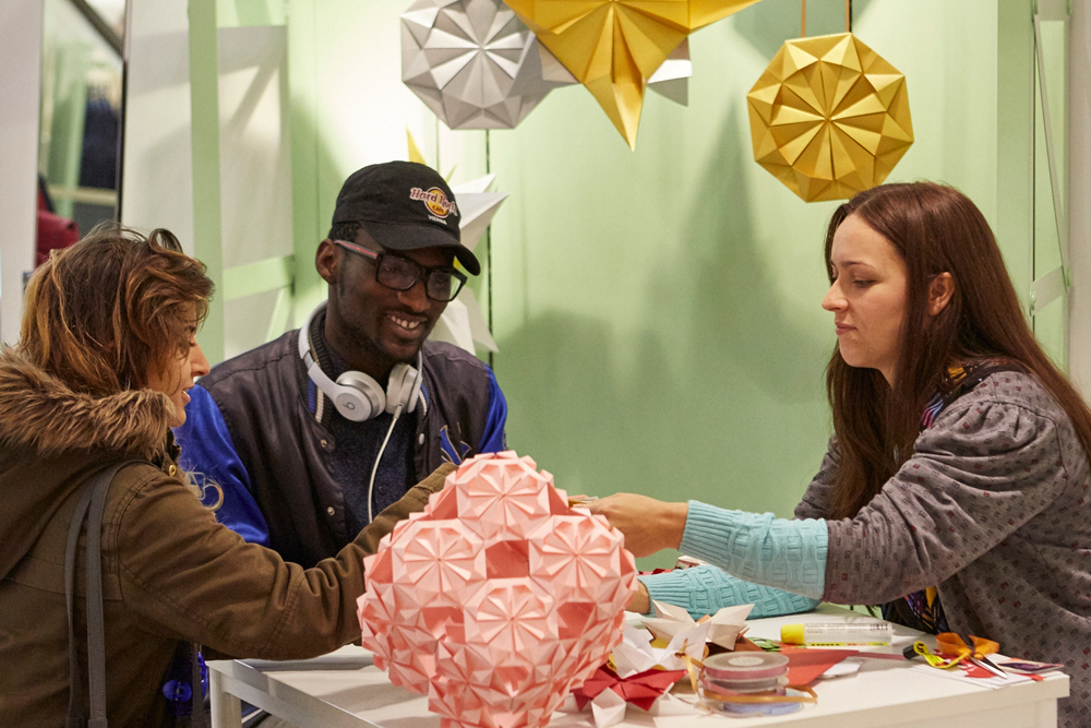 Origami workshops london H&M flagship store