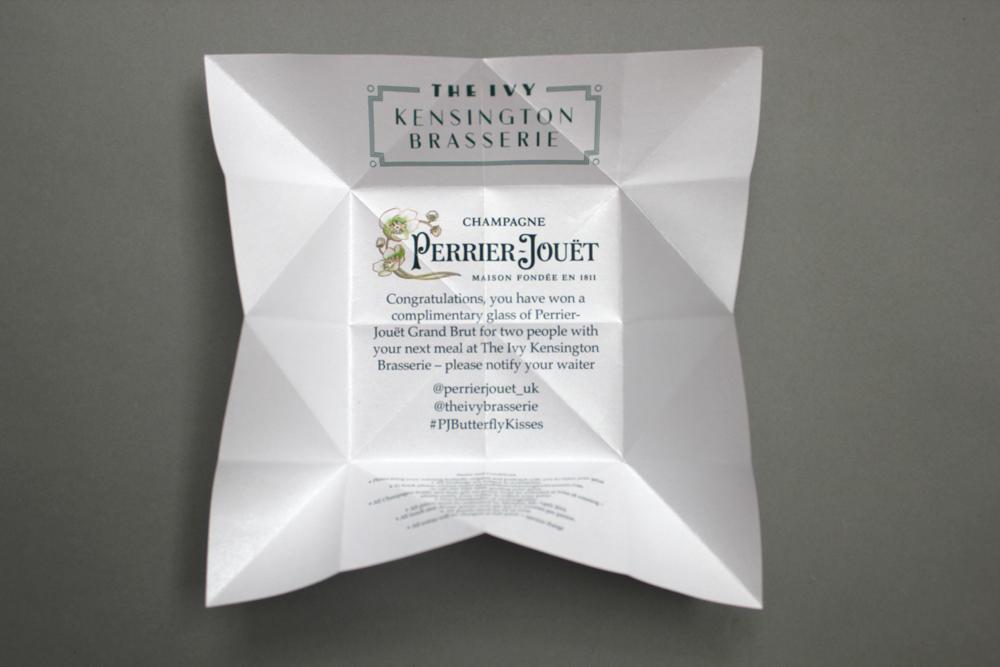 Bespoke origami butterflies perrier jouet