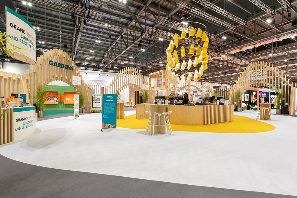 Paper set design installation for grand designs live