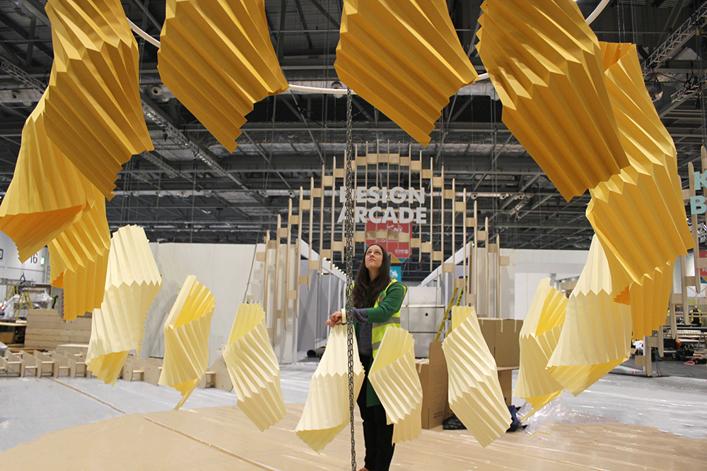 Set Design Paper Installation Grand Designs Live