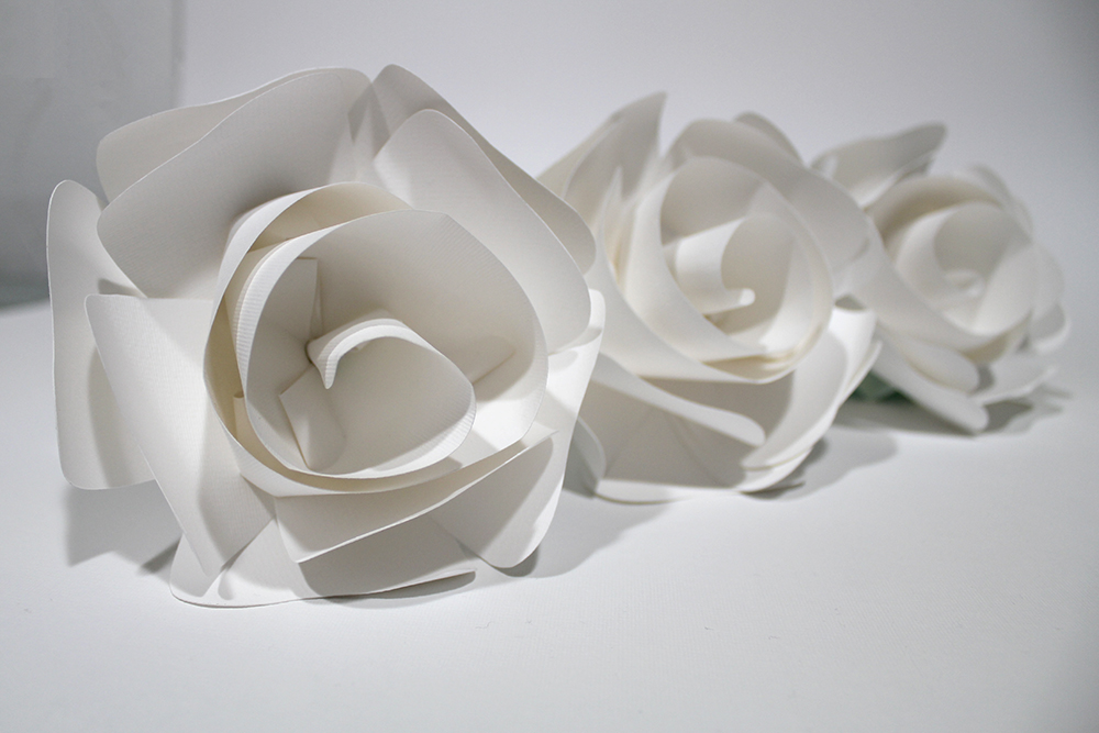 Paper Flowers for Valentino Parfums