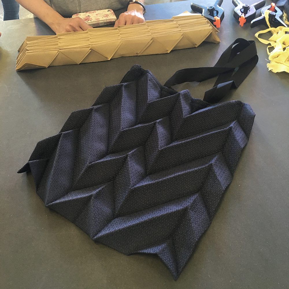 Origami pleating workshop ddf