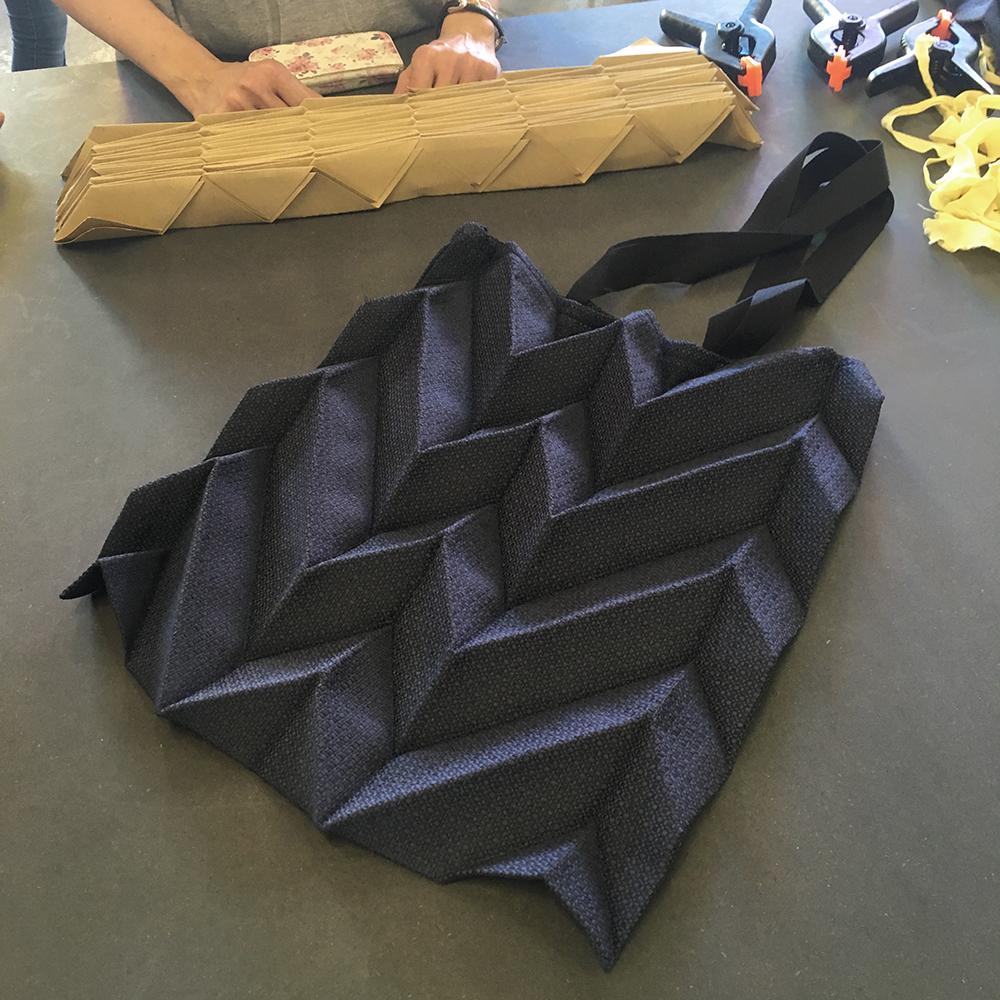 Origami pleating workshop ddf