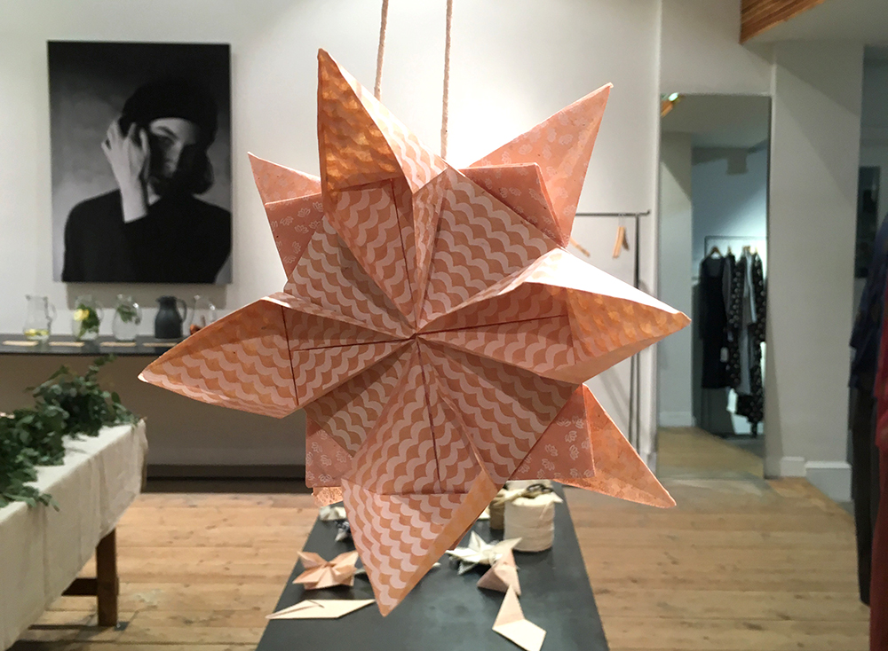 Origami workshop for Toast