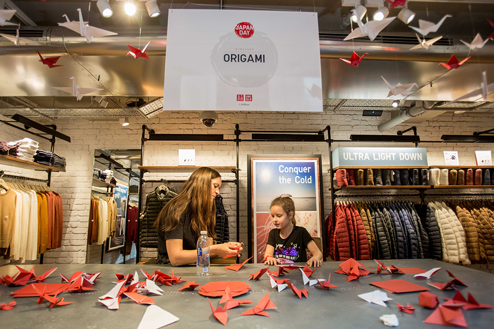 Origami Workshop for Uniqlo