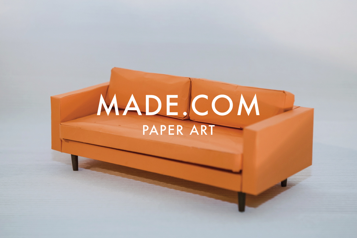 Paper art set design for Made.com