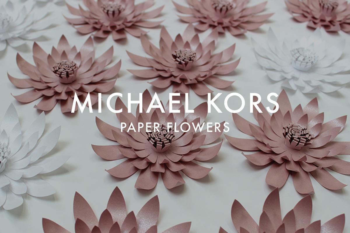 Paper flowers for Michael Kors