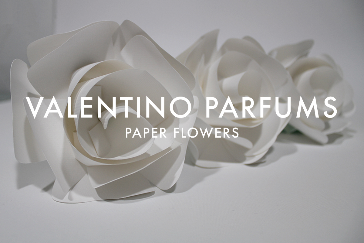 Paper flowers for Valentino