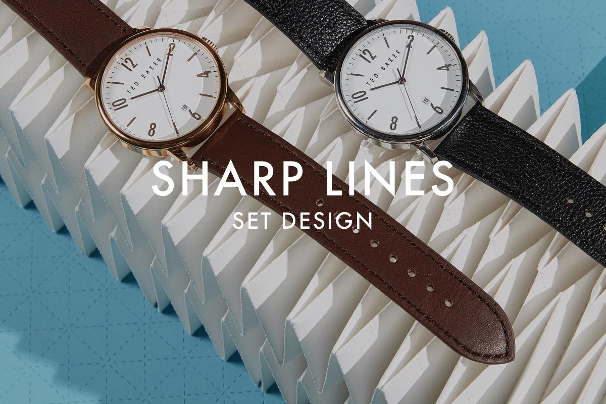 Set design origami sharp lines