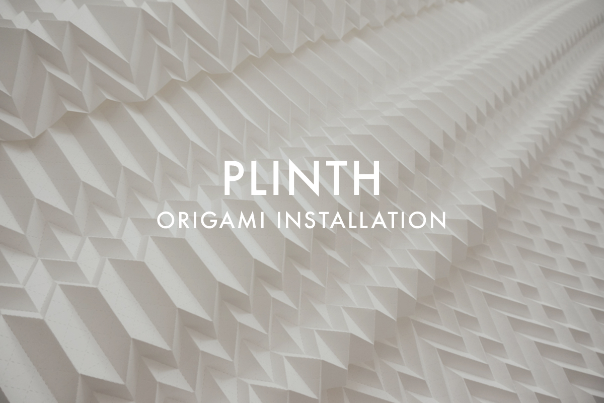 Origami Installation for Plinth