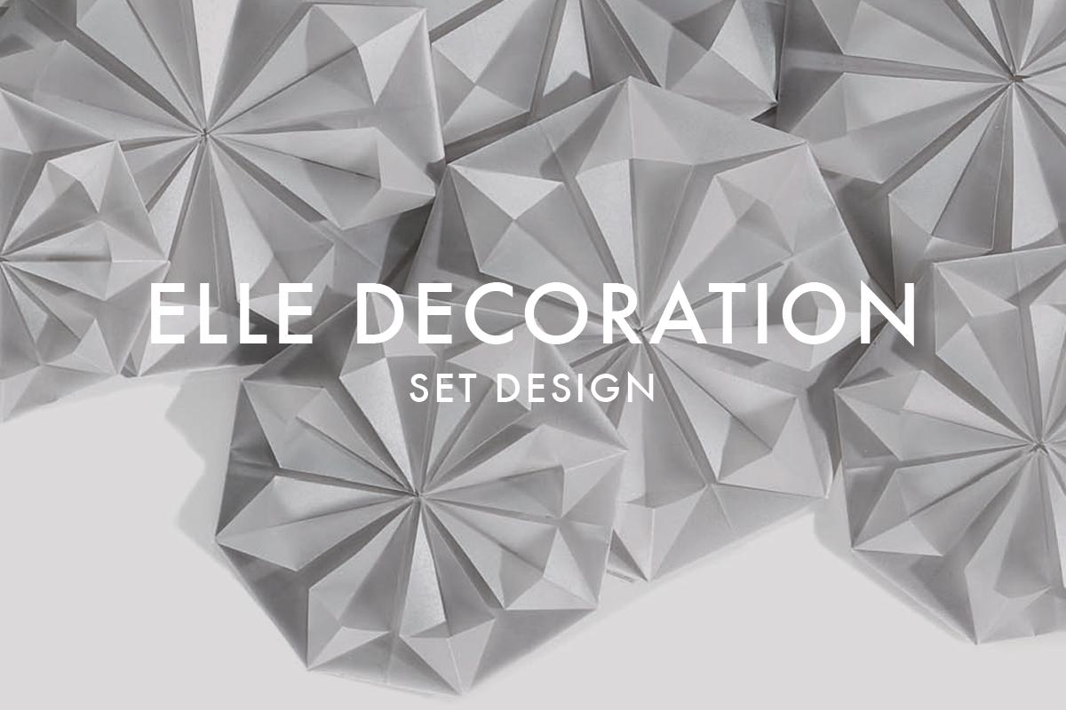 Paper set design for Elle Decoration