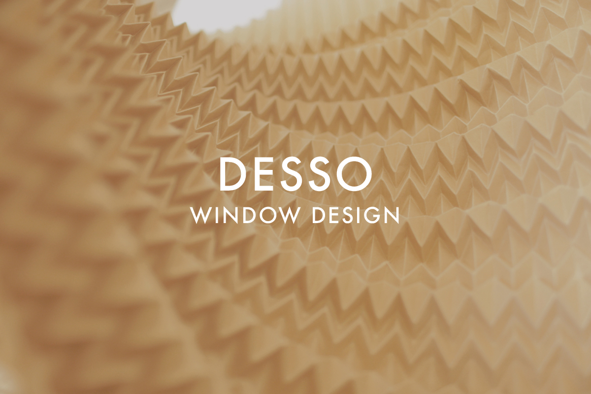 Paper window display for Desso