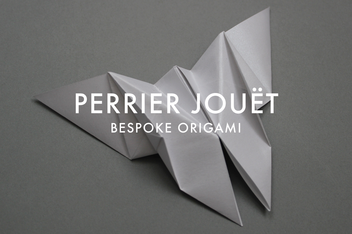 Bespoke origami butterflies for Perrier Jouet