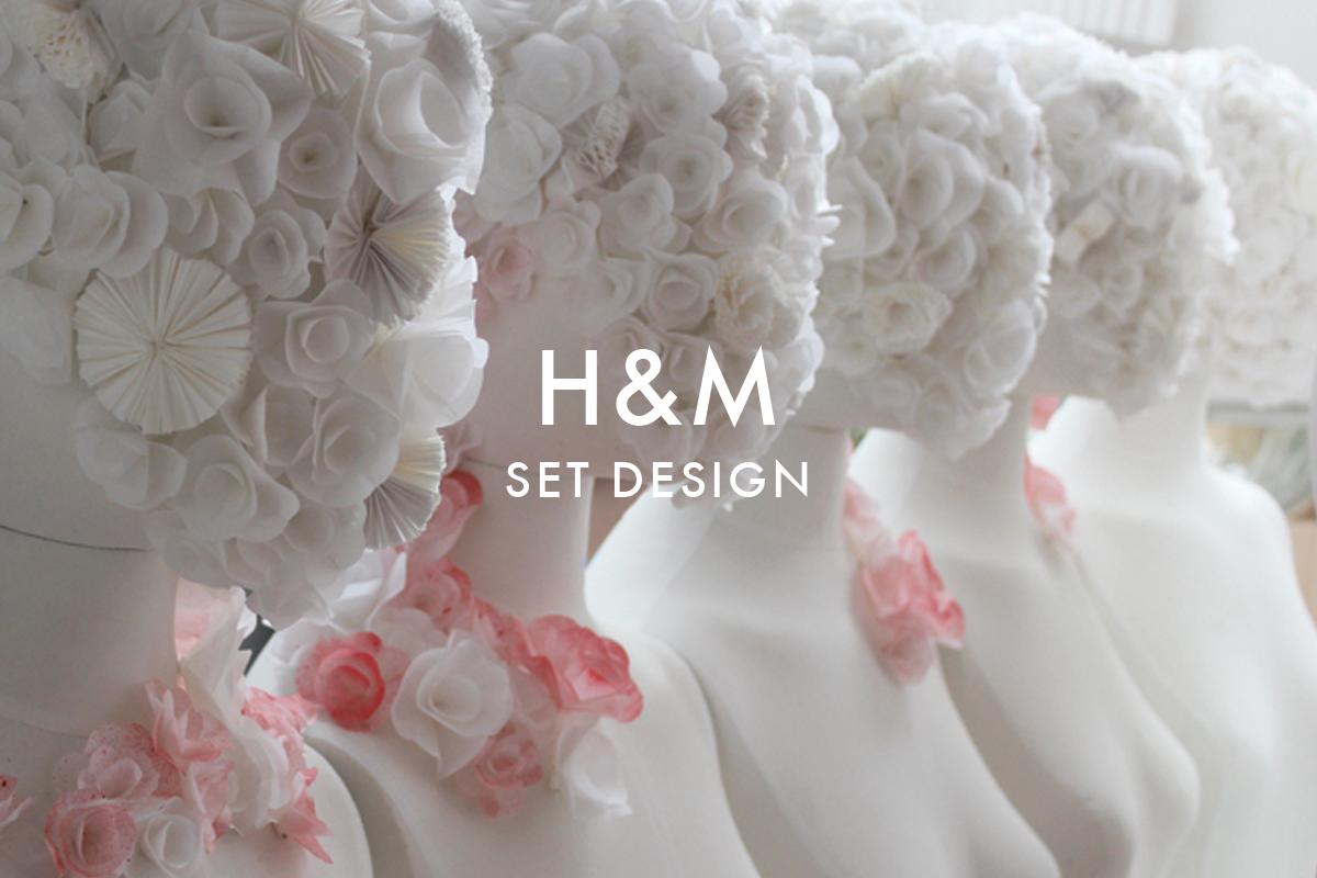 Paper set design for H&M