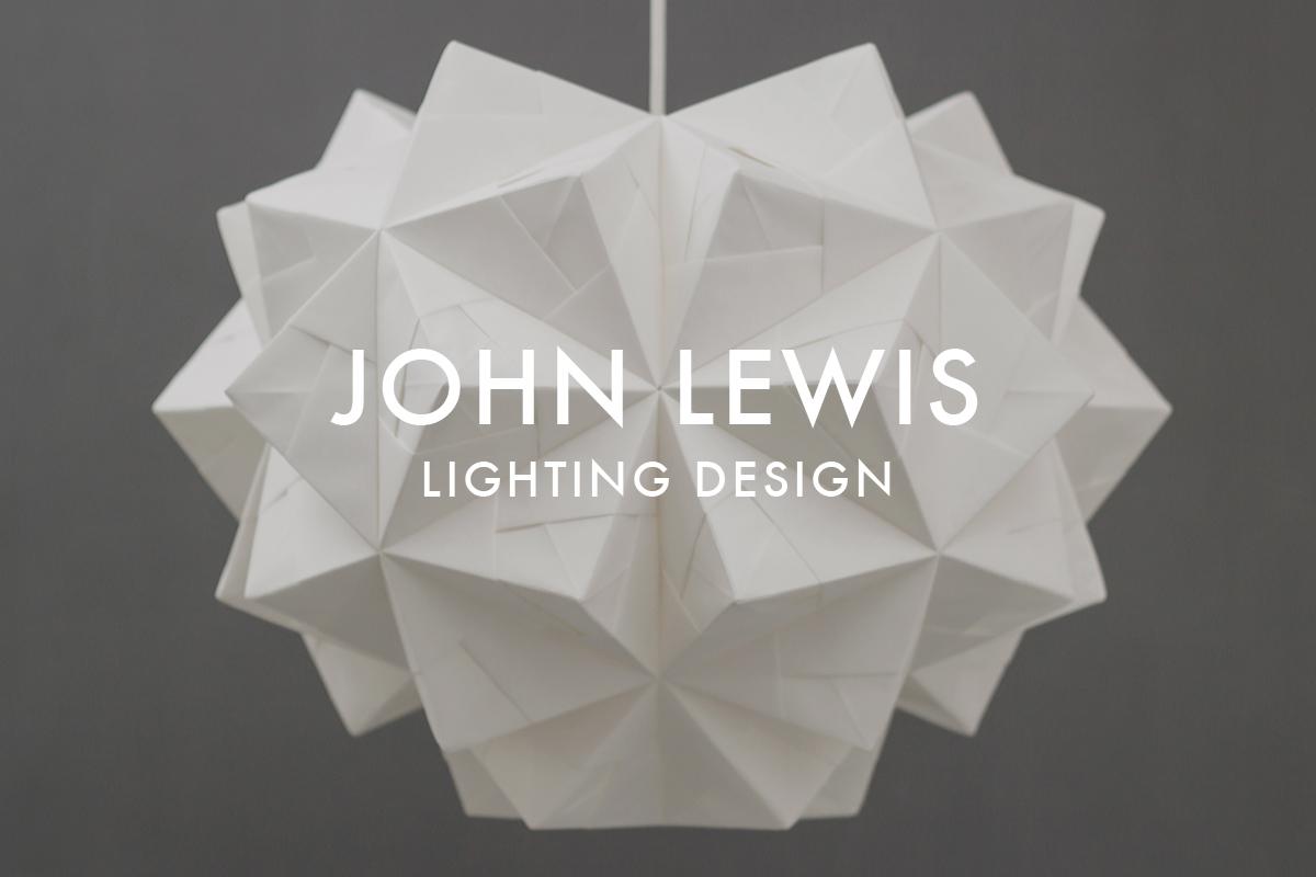 Origami lampshade John Lewis 150 Years Chloe Pendant