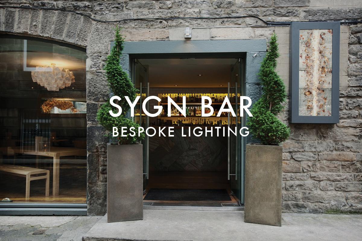Origami lighting designs bespoke sygn bar