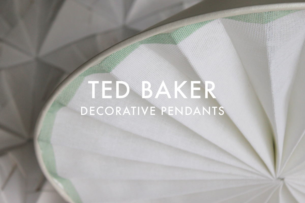 Decorative pendants pleated for Ted Baker