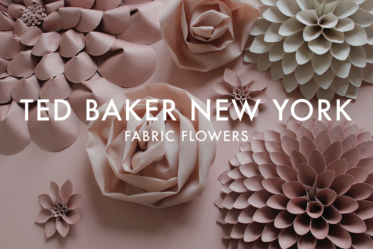 FABRIC FLOWERS TED BAKER