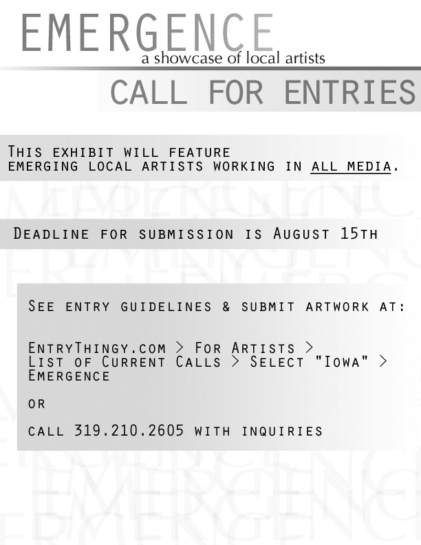 I have a few friends who are organizing an art show in the area. wanna submit something?