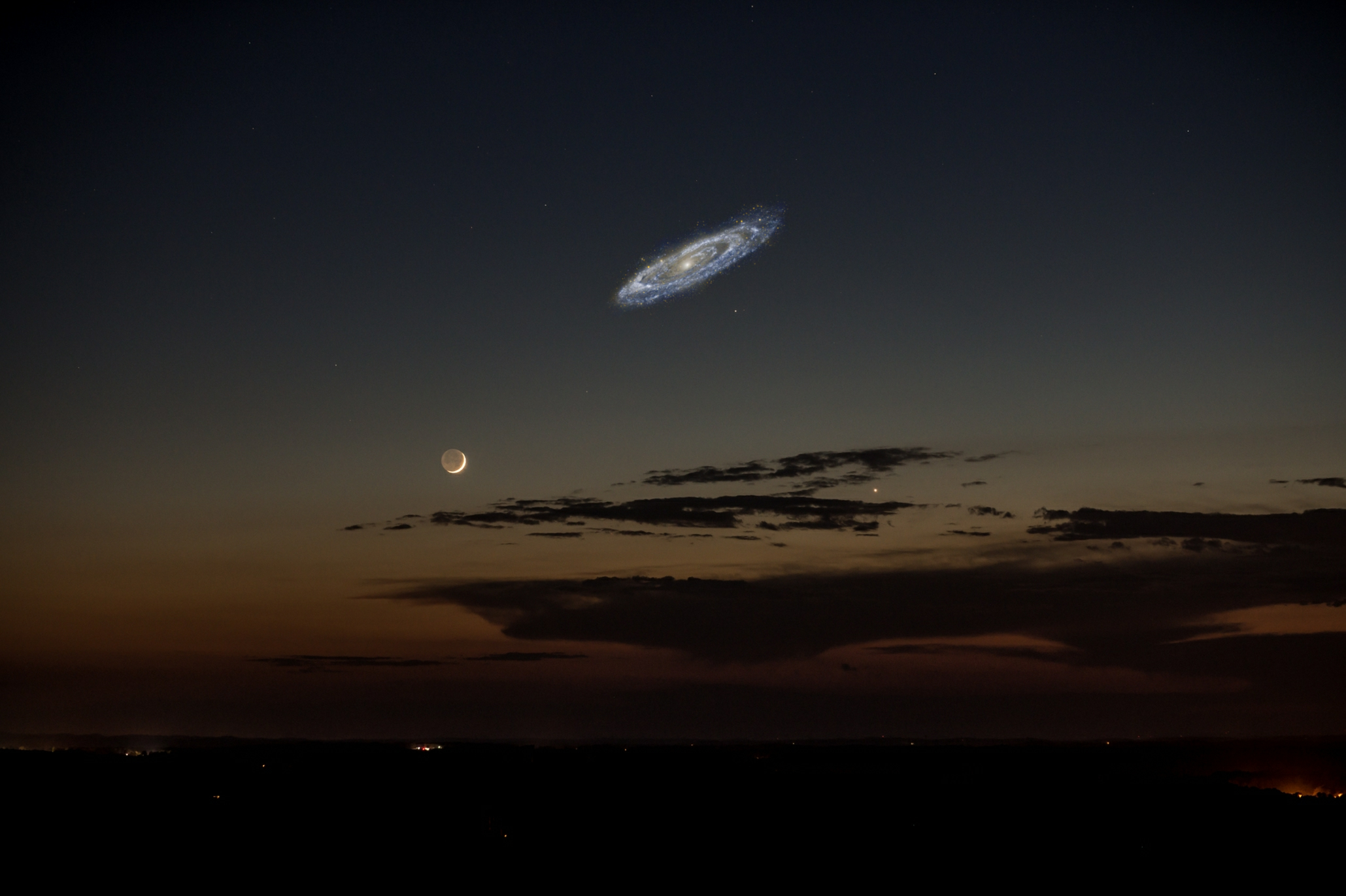 Andromeda If It Were Brighter