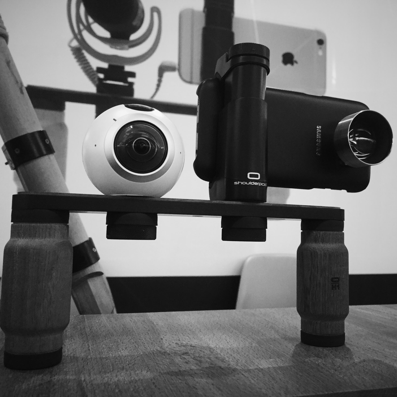 The Shoulderpod R1 Pro rig with the new Samsung VR Gear - MOJOCON 2016 -DUBLIN