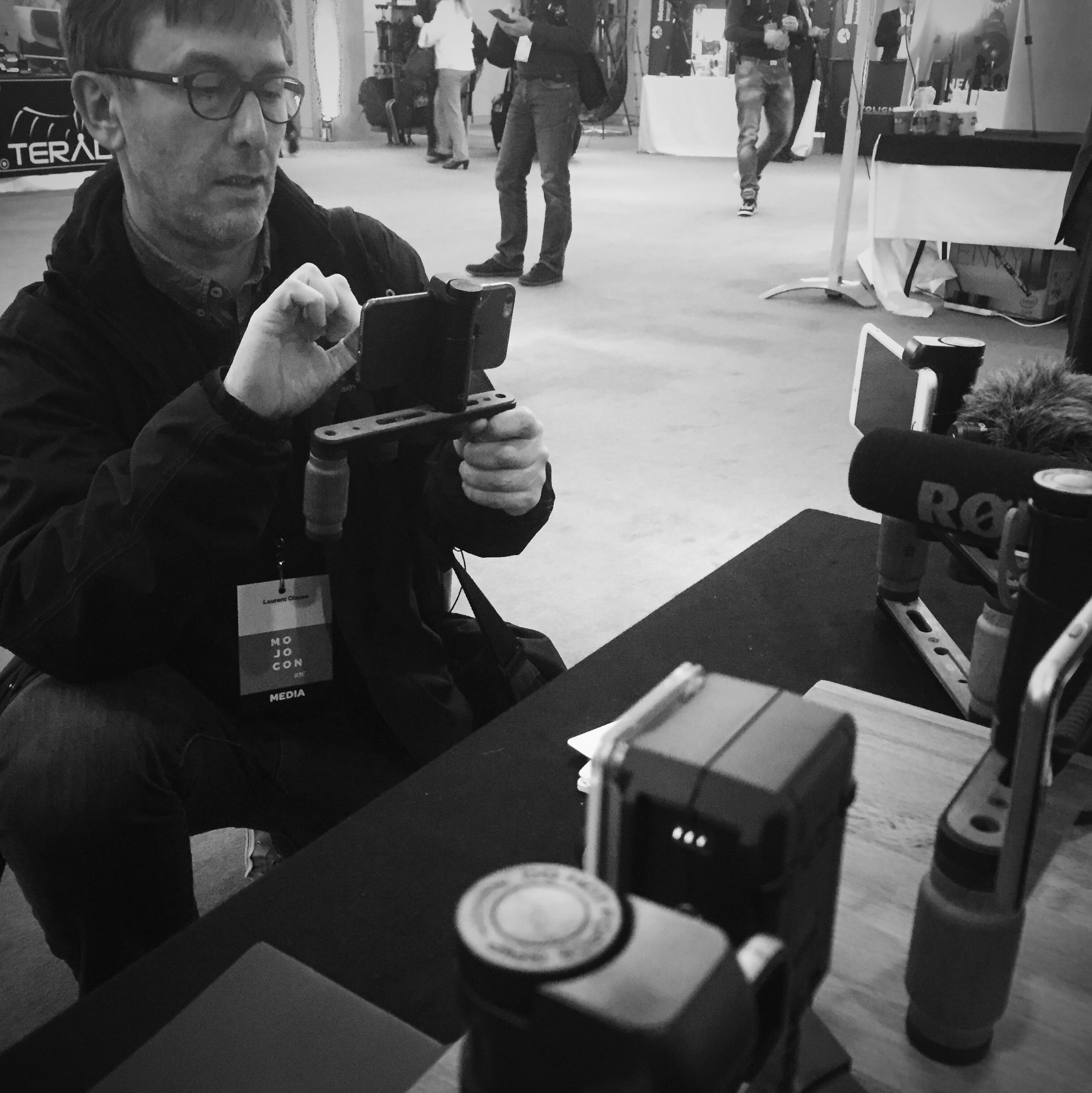 The Shoulderpod Booth at MOJOCON 2016 - MOBILE JOURNALISM CONFERENCE   - MOJO