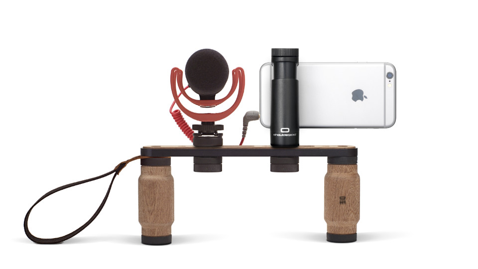 Shoulderpod X1 rig for iPhone external microphone
