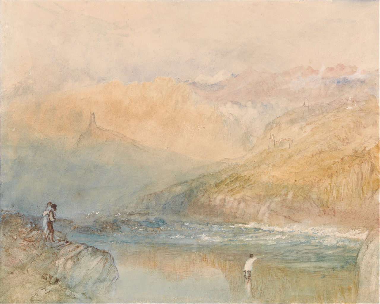 On the Mosell, Near Traben Trarbach.  JMW Turner.