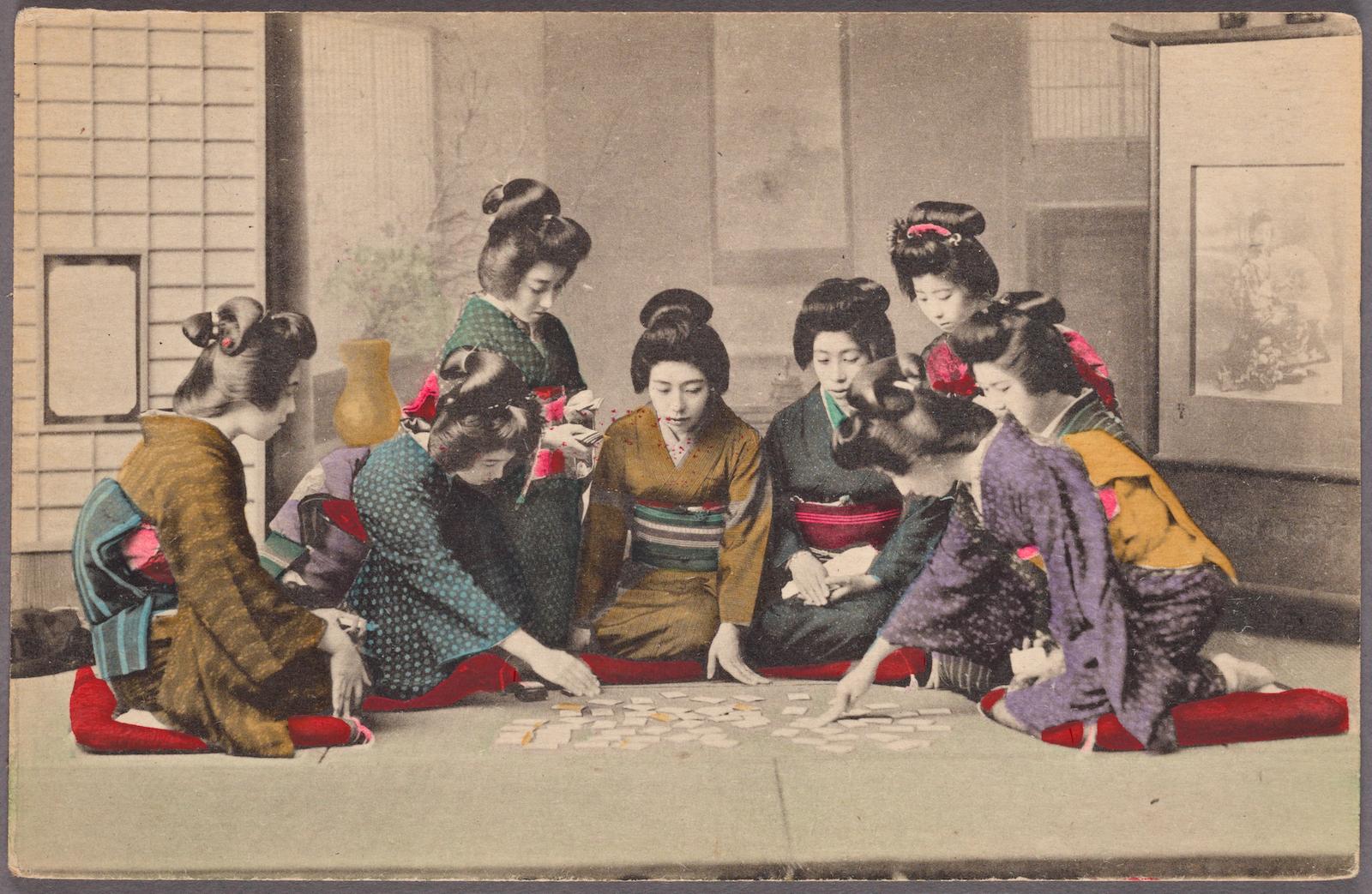 Girls Playing Uta-garuta,  NYPL