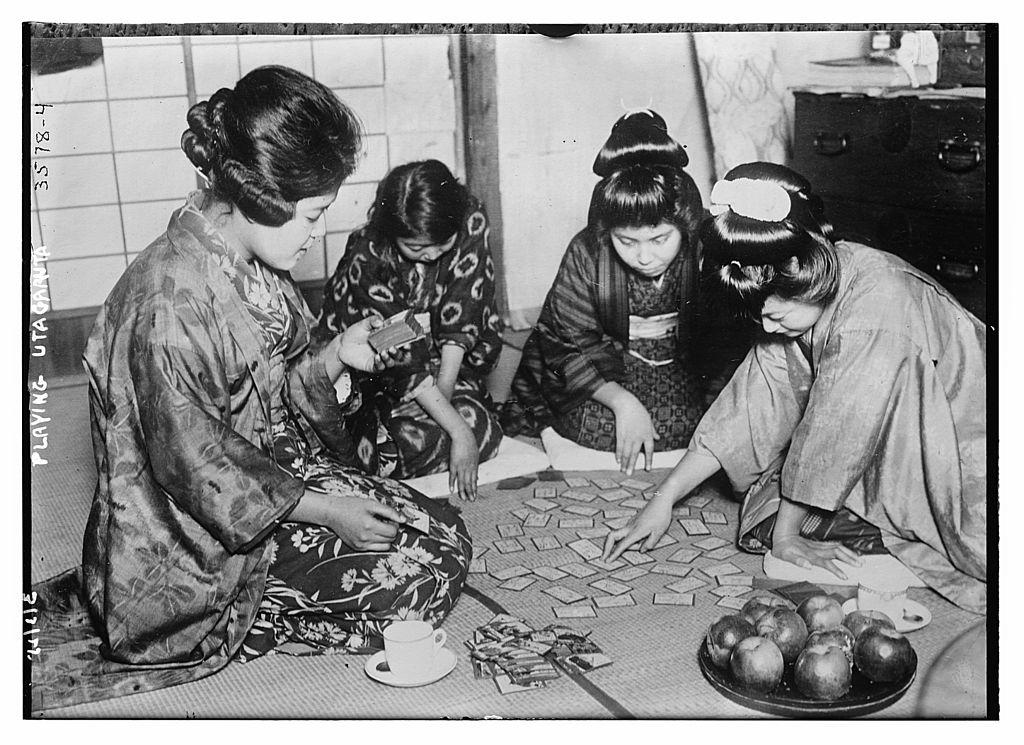 Playing Uta-garuta , Library of Congress