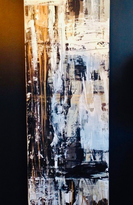 paris series no. 1 / acrylic on canvas, gold leaf / 60 in. x 24 in.