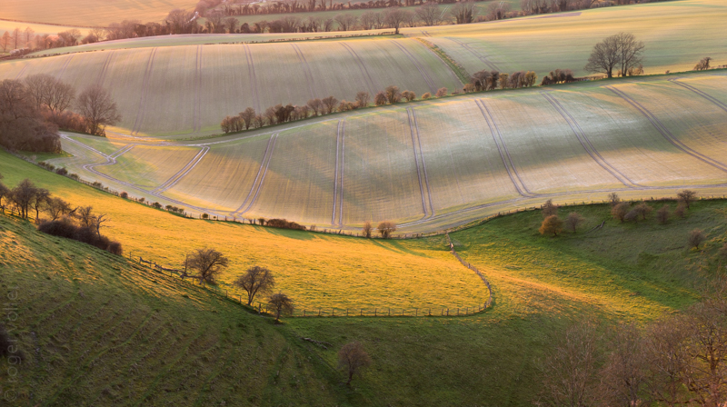 Last light on the South Downs
