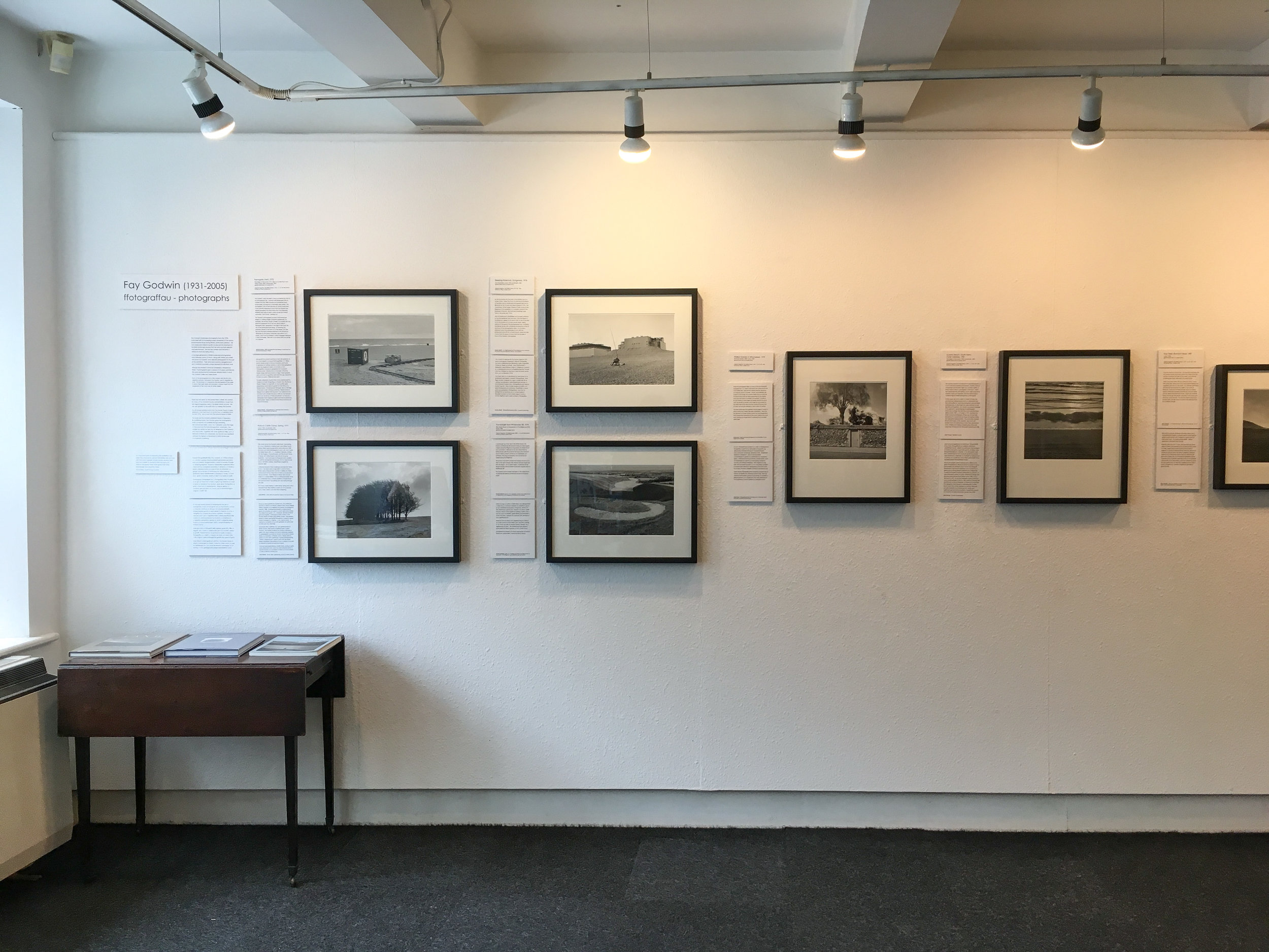 The ground floor of the Fay Godwin exhibition with an introduction of some of her most famous pictures and upstairs (no photographing allowed) revealing tantalising new to me original prints of  The Drover's Road of Wales