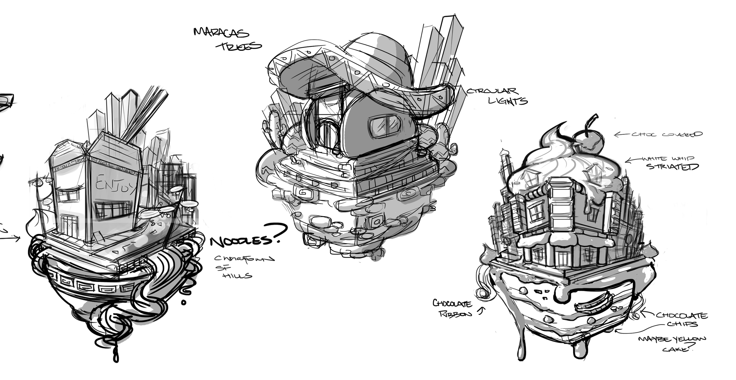 The chosen three-concepts for the new Diner Dash.